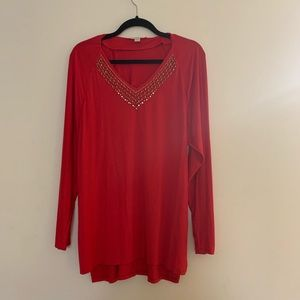 Michael Michael Kors Red Blouse Large